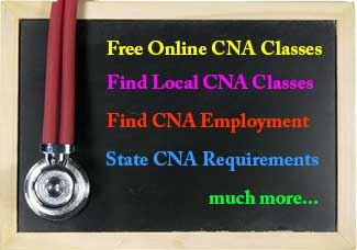 CNA blackboard with cna options